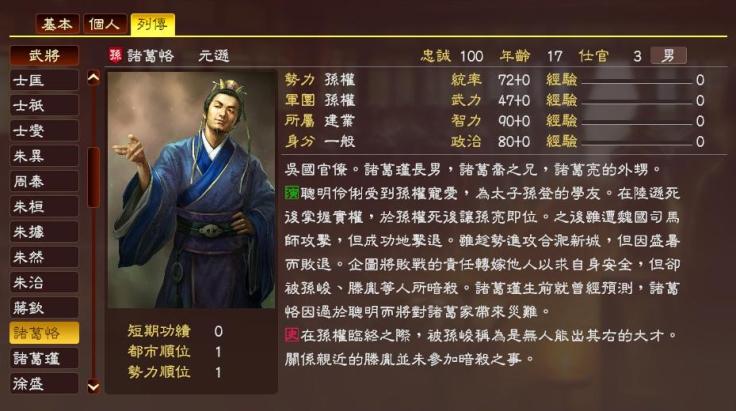 【三國人物】歷史上的諸葛瑾